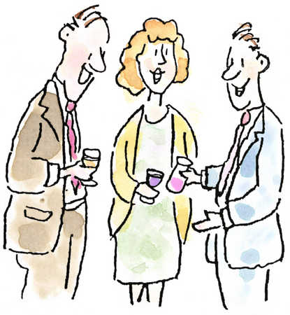 Businesspeople with beverages
