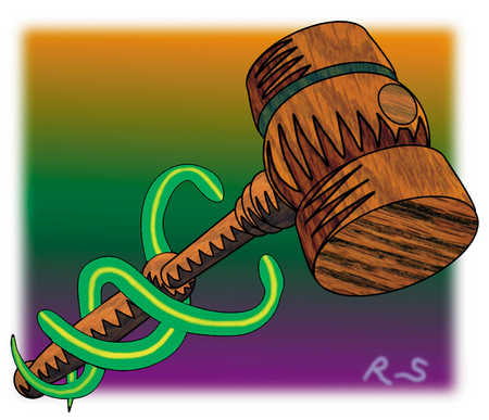 Snakes Around Gavel