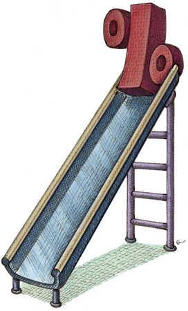 Percent Sign At Top Of Slide