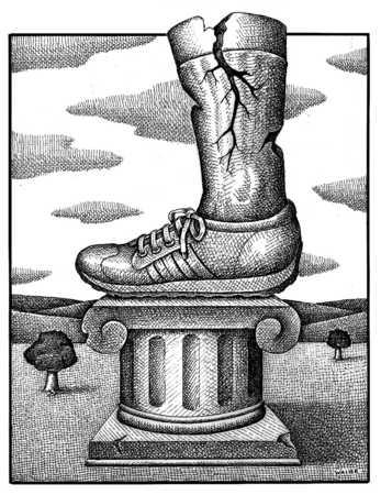 Sneaker On Pedestal