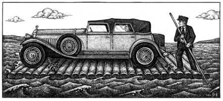 Car On Raft
