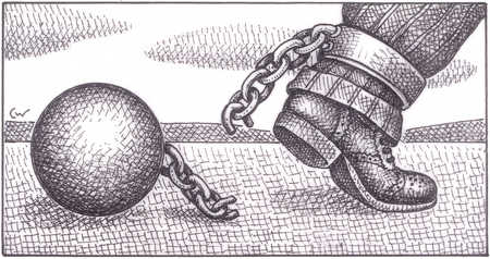 Man Freed From Ball And Chain