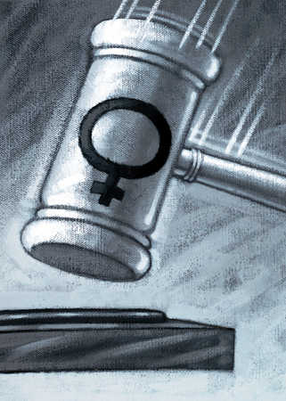 Gavel With Female Symbol