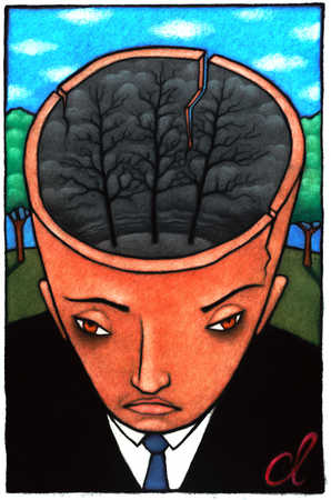 Man With Dark Forest In His Head