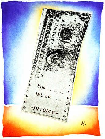 Dollar Bill Invoice