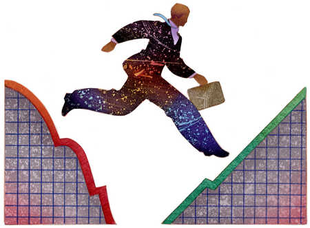 Man Leaping On Graphs