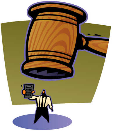 Gavel Above Businessman