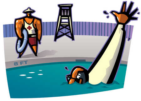 Man Drowning In Pool