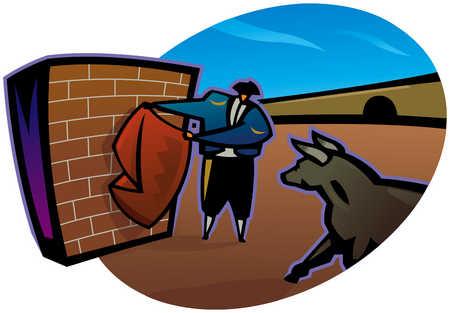 Matador And Brick Wall