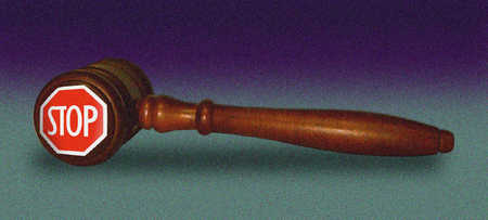 Gavel With The Word Stop