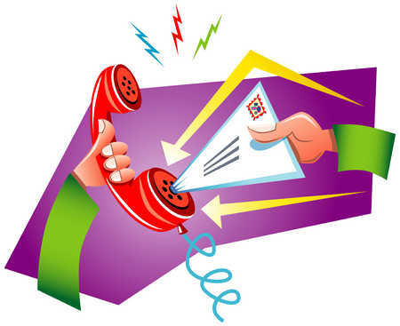 Letter Put In Telephone Receiver