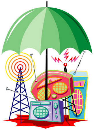 Umbrella Over Radios