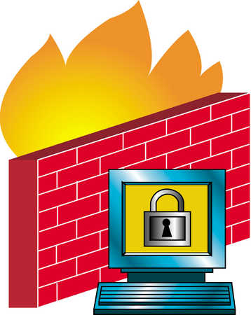 Monitor Showing Lock By Firewall