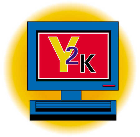 Computer Displaying Y2K