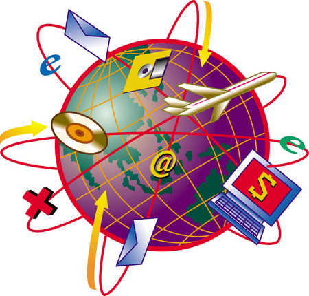Internet Services Orbiting Globe