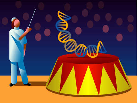 Scientist With Trained DNA In Circus