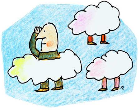 Men Hidden In Clouds