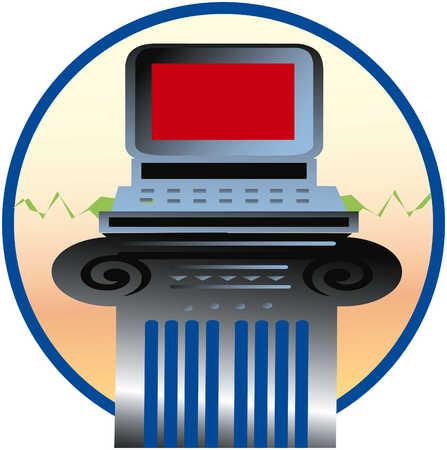 Computer on Pillar