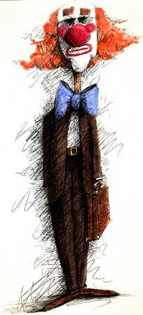 Clown In Business Suit