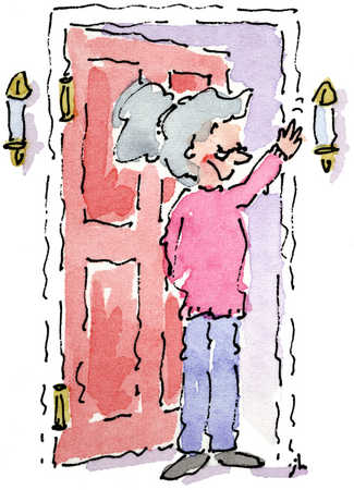 Woman At Doorway