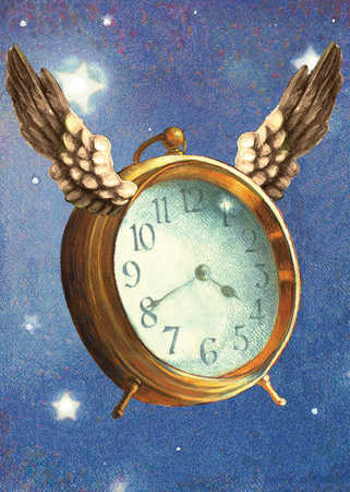Alarm clock with wings