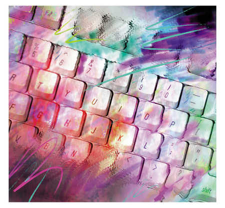 Keyboard With Slashes Of Color