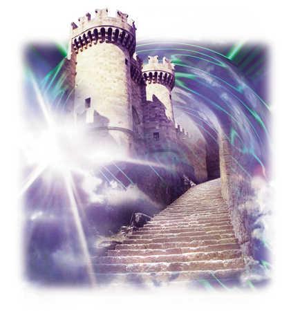 Castle In Swirling Clouds