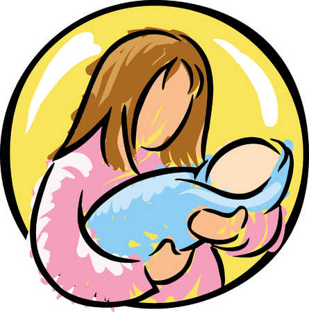 Stock Illustration - Woman With Baby