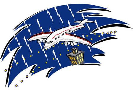 Stormy Plane