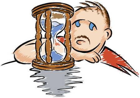 Man/ Hourglass/ Unhappy