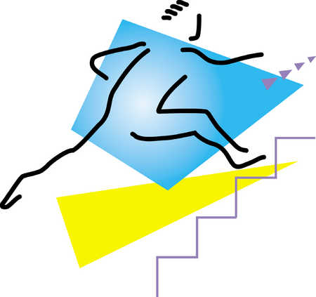 Stick Figure Climbs Stairs