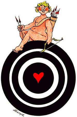 Cupid Sits On Target