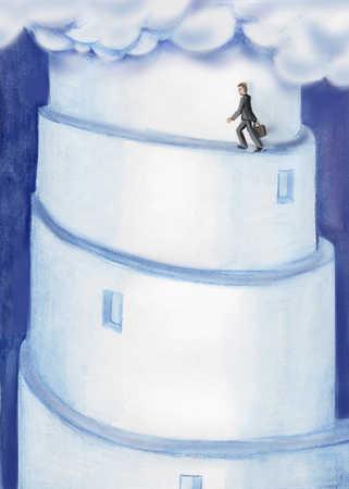 Man Going Upward