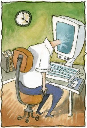 Man Entering Cyberspace