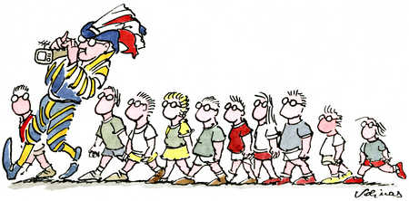 Kids Following Pied Piper