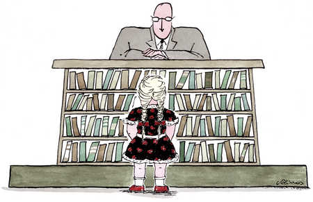 Girl Confronting Librarian