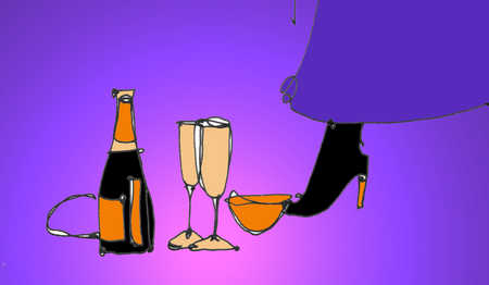 High Heel Boots And Champagne