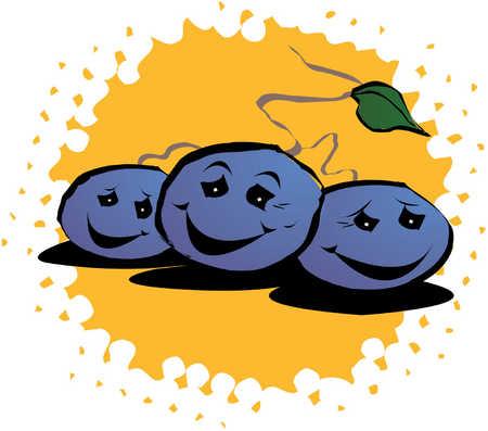Happy grapes