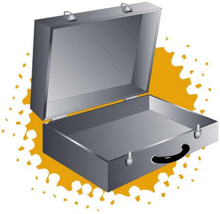 Empty briefcase