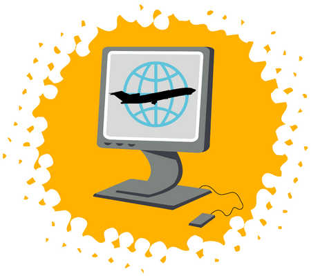 Airpline Travel On The Computer