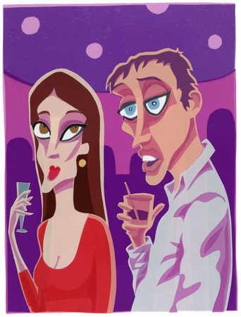 Couple In Nightclub