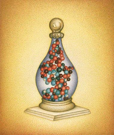 Bottle With DNA Strand Inside