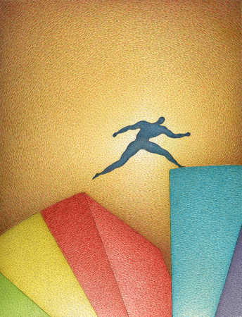 Figure Jumping Chasm