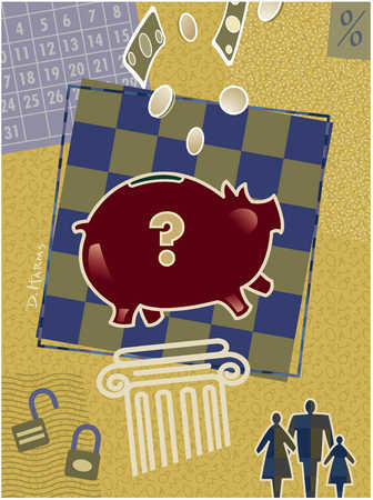 Piggy bank and family banking