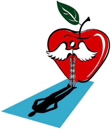 Caduceus With Apple