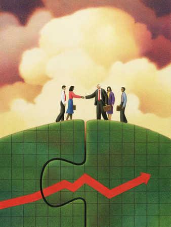 Business Deal Over Upward Graph