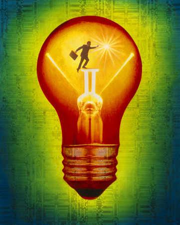Figure Inside Of Lightbulb