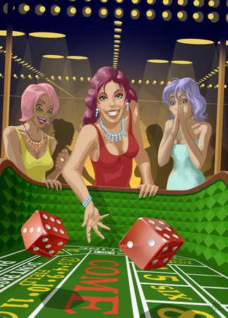 Three Women In A Casino