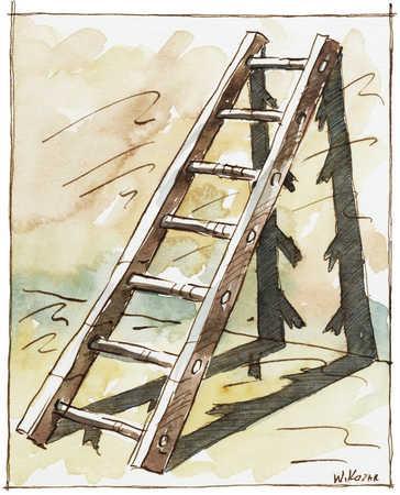Ladder With Broken Shadow