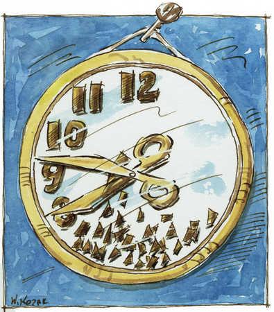 Scissors Cutting Clock